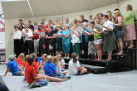 Picture of community choir performing