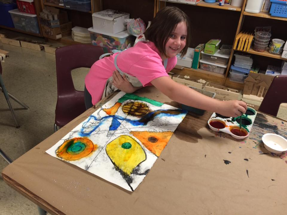 Picture of student painting